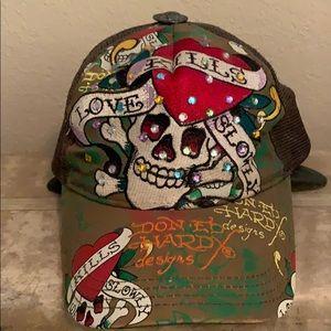 Vintage authentic Ed Hardy SnapBack hat